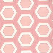 Hexagons in Honeysuckle Pink