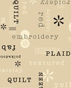 Patchwords in Tan