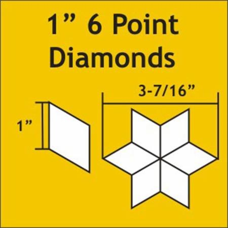 1'' Six Point Diamond Paper Pieces