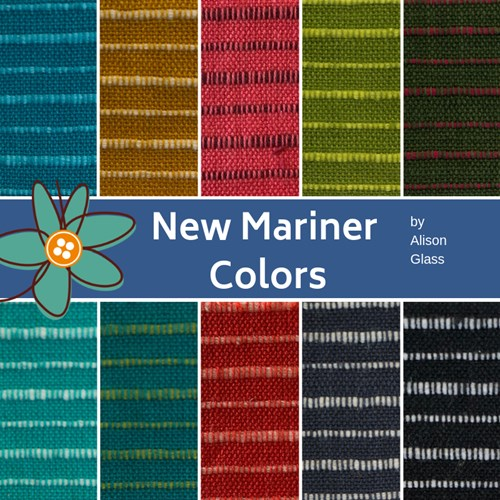 PREORDER - New Mariner Cloth Colors Fat Quarter Bundle by Alison Glass