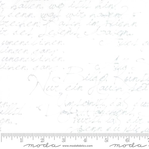"108"" Wide Handwriting in White"