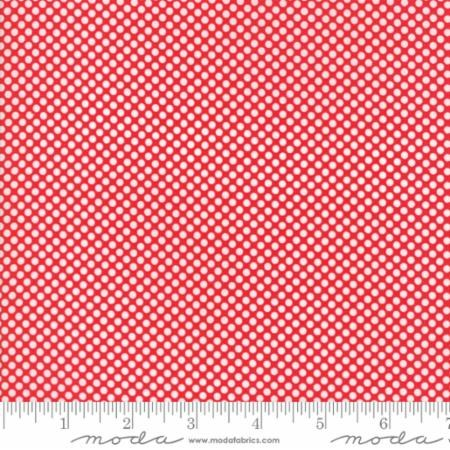 "108"" Wide Polka Dot in Red"