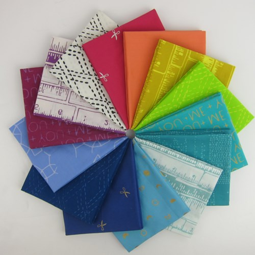 Indah Batiks Bright Colorstory Fat Quarter Bundle