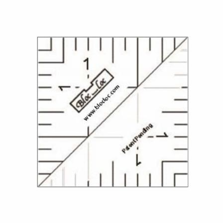 "1.5"" Half Square Triangle Ruler by Bloc Loc"