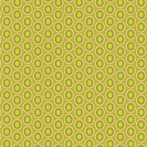 Oval Elements in Chartreuse
