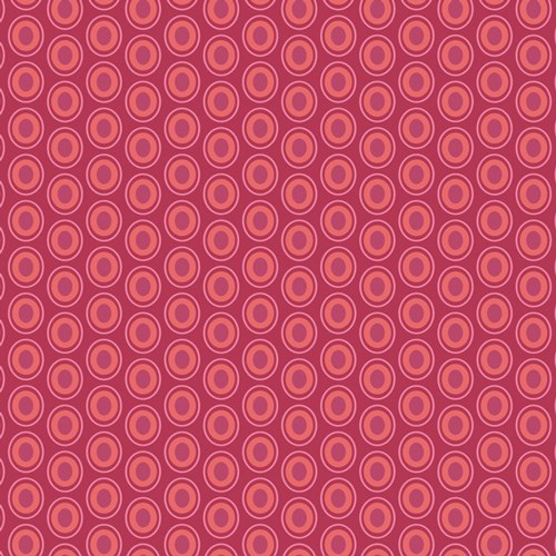 Oval Elements - Cranberry