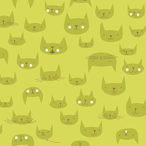 Purrfectly Happy in Olive