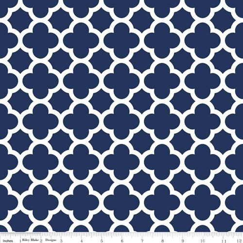 Quatrefoil in Navy