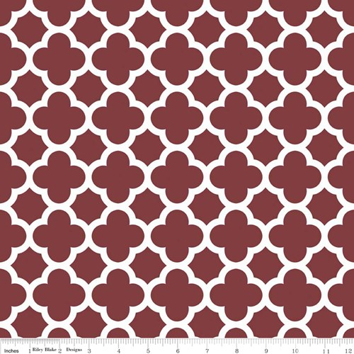 Quatrefoil in Burgundy