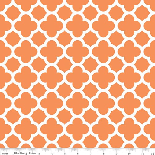 Quatrefoil in Orange