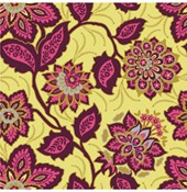 Ornate Floral in Garnet