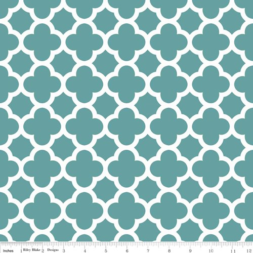 Quatrefoil in Teal