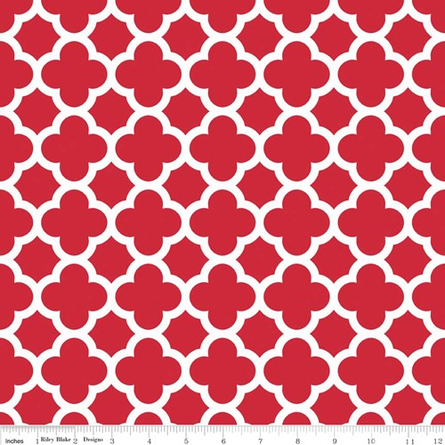 Quatrefoil in Red
