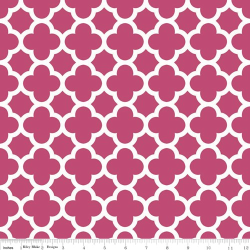 Quatrefoil in Raspberry