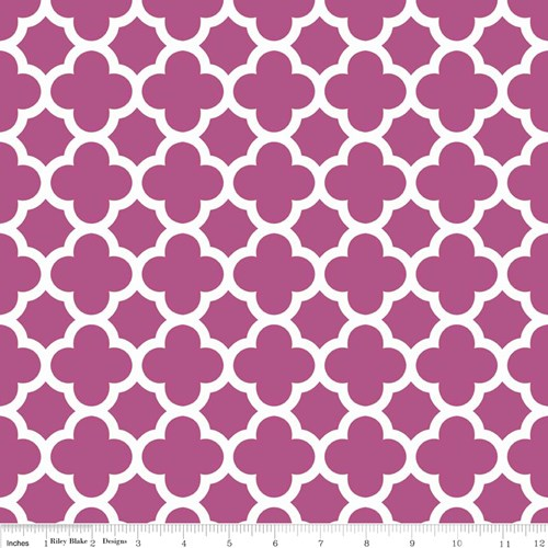 Quatrefoil in Fuschia