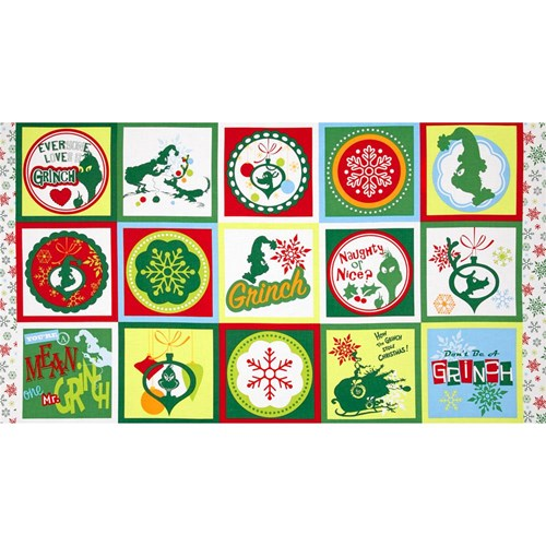 How the Grinch Stole Christmas 3 Flannel Panel