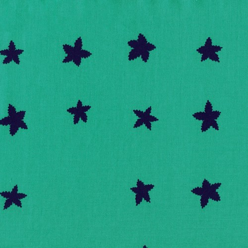 Stars in Aqua and Indigo