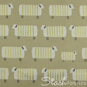 Sheep in Metallic Gold CANVAS