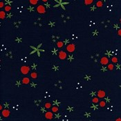 Winter Pomegranates in Navy