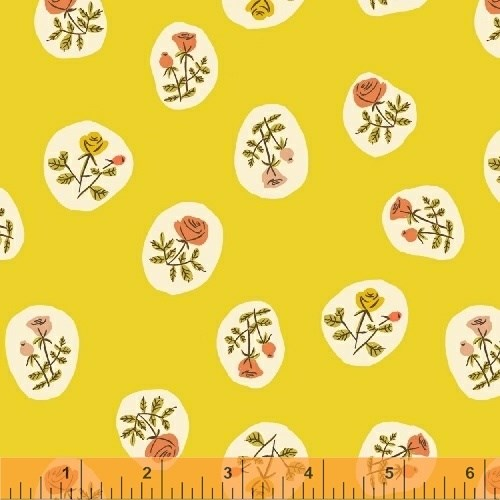 Scattered Floral in Yellow