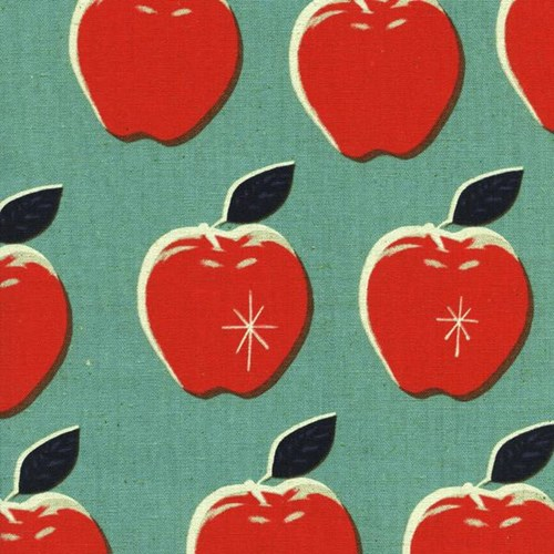 Canvas Apples in Blue/Red CANVAS