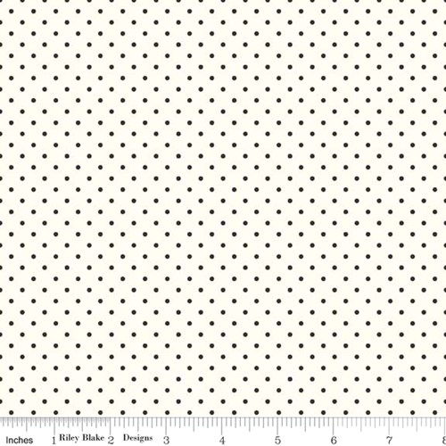 Le Creme Swiss Dots - Black