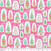 Snowglobe Forest in Pink
