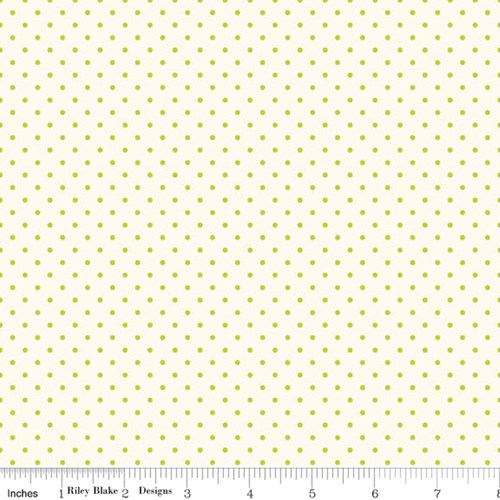 Le Creme Swiss Dots - Lime