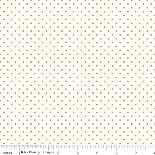 Le Creme Swiss Dots - Gray