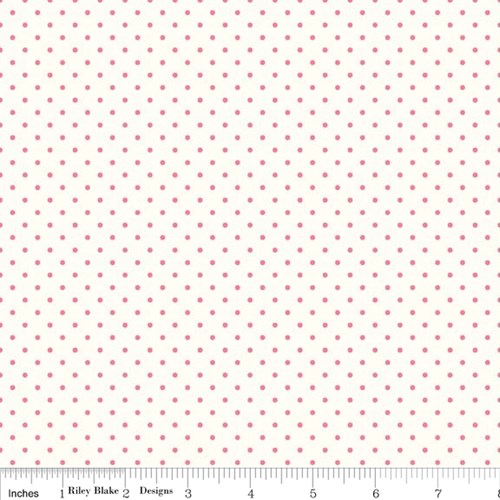 Le Creme Swiss Dots - Hot Pink