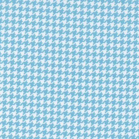 Houndstooth in Light Blue