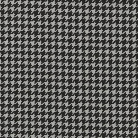 Houndstooth in Black and Grey