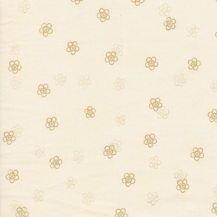 Metallic Flowers in Ivory