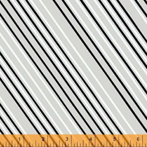 Airmail Stripe in Greyscale