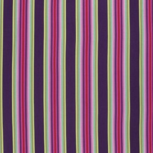 Tick Tock Stripe in Raspberry