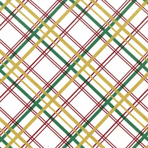 Bow Tie Plaid in Garland Metallic