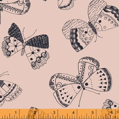 Mono Butterfly in Blush