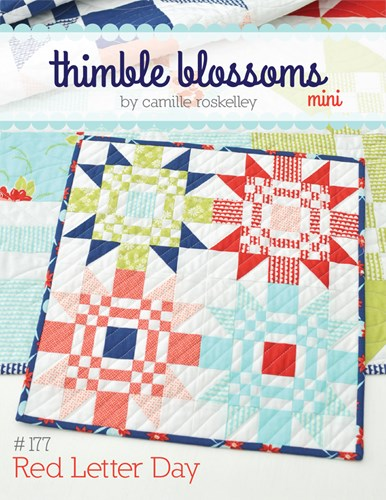 Mini Red Letter Day Pattern by Thimble Blossoms