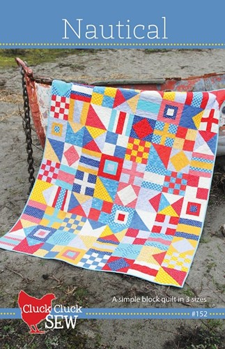 Nautical Quilt Pattern by Allison Harris of Cluck Cluck Sew