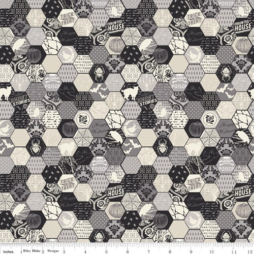 Haunting Hexagon in Gray