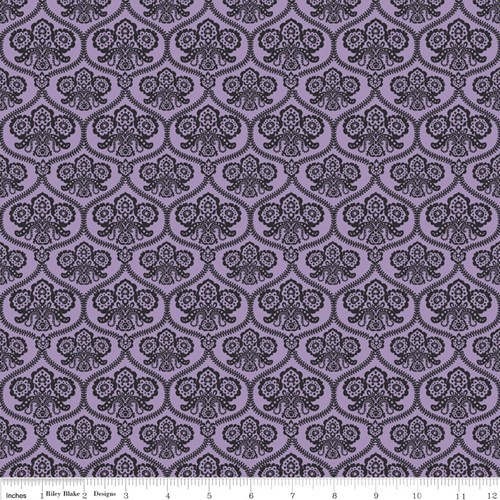 Haunting Damask in Purple