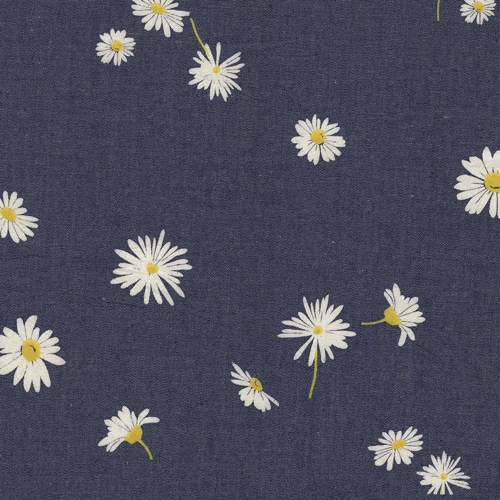 Ragged Daisies Cotton Denim
