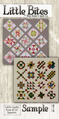 Sample Little Bites Quilt Pattern by Miss Rosie