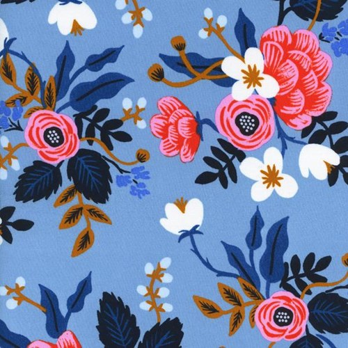 Birch Floral in Periwinkle RAYON