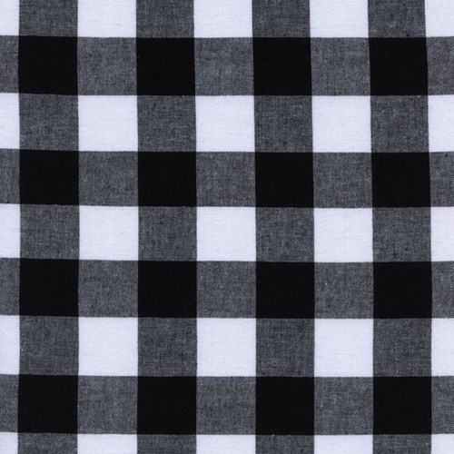 One Inch Gingham in Black