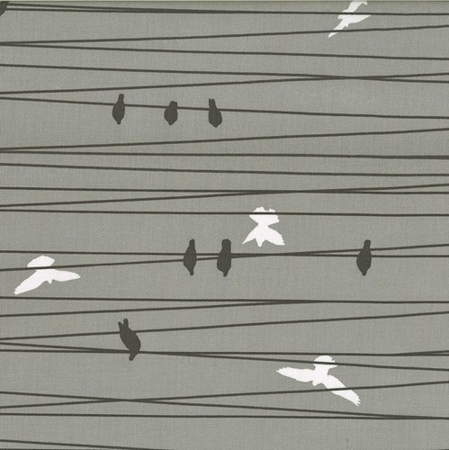 Birds on a Wire in Stone