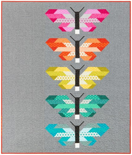 Frances Firefly Quilt Kit Using Paintbox Basics by Elizabeth Hartman