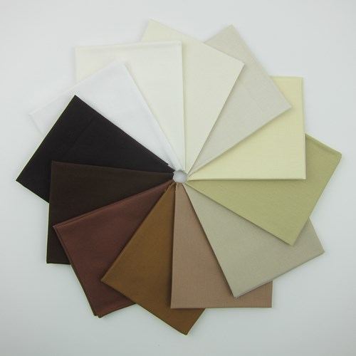 Assorted Neutral Kona Fat Quarter Bundle