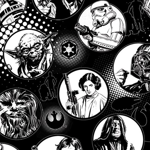 Star Wars Character Circles in White