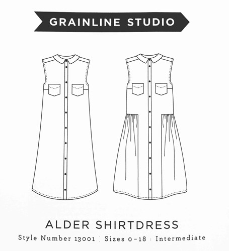 Alder Shirtdress Pattern by Grainline Studio
